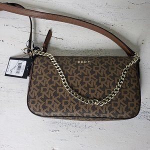 DKNY Demi Mocha Logo Vic Crossbody Bag 9MV
